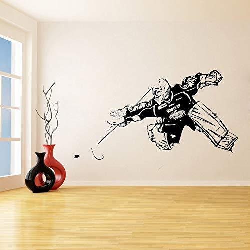 jiushivr Hockey Entfernbare Wandaufkleber für Wohnzimmer Home Art Decor Wandbilder Vinyl wasserdichte Abziehbilder Jungen Schlafzimmer Dekoration 81x130cm