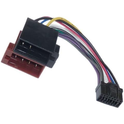 Pioneer DIN ISO Auto Radio Adaptador cable conector 16 Pin polos DEH P AVH-P AVIC