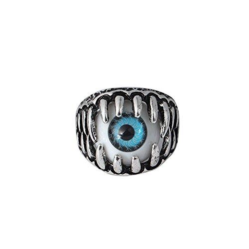 Damen und Herrenmode Ring,Transwen Dominierende übertriebene Persönlichkeit Eye Ring Augapfel Ring Augapfel Ring Festlich Schmuck Halloween Grusel Interessant Auge Ring (7, Blau)
