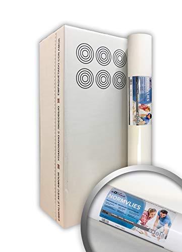 NORMVLIES 150 g Renoviervlies 6 Rollen 112,5 m2 Glattvlies Malervlies glatte überstreichbare Vliestapete weiß