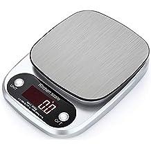 lupeng Báscula Digital de Cocina, báscula electrónica de Acero Inoxidable, precisión de 0.1 g