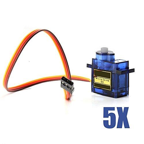 Hrph 1/5/10 Stück Mini-SG90 Micro Servo Motor für RC Roboter-Hubschrauber-Flugzeug steuert Auto-Boot (Sg90 Servo)