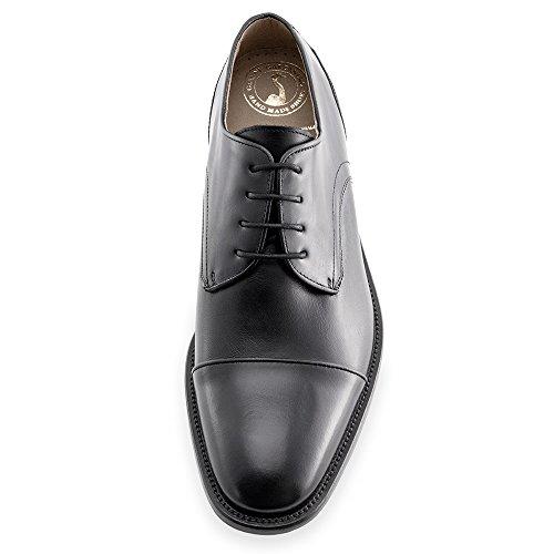 Scarpe da uomo che permettono di aumentare la statura fino a 7 cm. Modello Birmingham (100% Scarpe Di Cuoio Italiane)