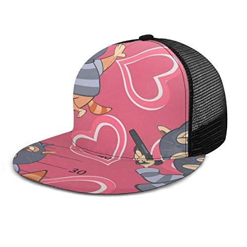 Katzen Muster Einstellbare Cowboy Denim Hut Unisex Hip Hop Baseball Caps DIY 14260 (Baseball Kostüm Muster)