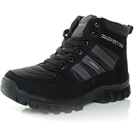 ZPL Caldo inverno piatto scarpa uomo , black , (Martin Lino)