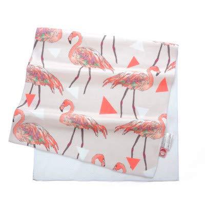 WLLLO Tropischer Regenwald, Flamingos, Bambusfaser Handtücher, Bequeme Waschlappen Design, Pulver -