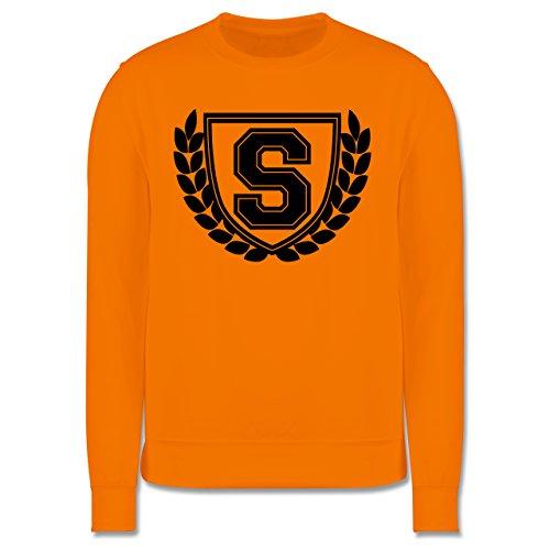Anfangsbuchstaben - S Collegestyle - Herren Premium Pullover Orange