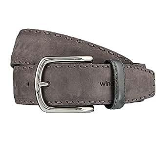 Windsor. Gürtel Herrengürtel Ledergürtel Grau 4186, Länge:110 cm;Farbe:Grau