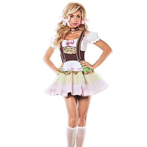 Liu Sensen Dessous Für Frauen Sexy Dessous Dienstmädchen Outfit Dienstmädchen Uniform Krankenschwester Uniform Französisch Dienstmädchen Kleid Cosplay Oktoberfest Leistung Kostüm Bodys,S