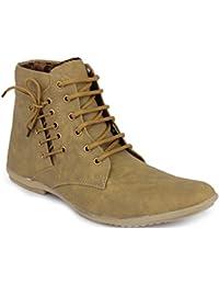 Hot Man Mens' Designer Brown Faux Leather Casual Shoes Size:- 6 UK/IND (AFX-6002-6)