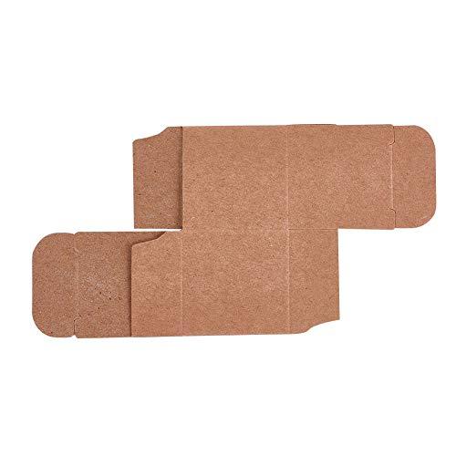 NBEADS 100 Pcs Kraft Geschenkboxen Geschenkverpackungspapier-Kästen Süßigkeit-Verpackenkasten für Hochzeitsdekoration und Geburtstagsfeier-Versorgungsmaterialien, darkgoldenrod, 3.8x3.8x3.8 cm