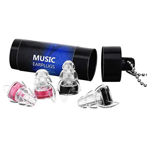 VicTsing Music Tappi per Le Orecchie Protezione dellUdito con Contenitore Alluminio Auricolari Hi Fi per Musica Concerti Discoteca Dormire per