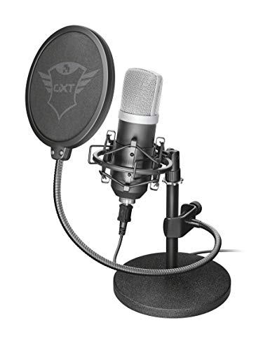 Trust Emita Professionelles USB Studio Mikrofon schwarz (Aufnahme-mikrofon Für Studio)