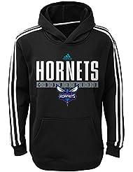 "Charlotte Hornets Youth Jeunes NBA Adidas ""Playbook"" Pullover Performance SweatShirt Chemise"