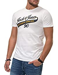 1ff52136877b47 JACK   JONES Herren T-Shirt Jjelogo Tee Ss Crew Neck Two Col Ps Noos