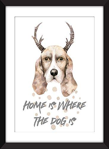 Home is Where the Dog Is Unframed Dog Print / Zuhause ist, wo der Hund ist - ungerahmt drucken (Home Drucken)
