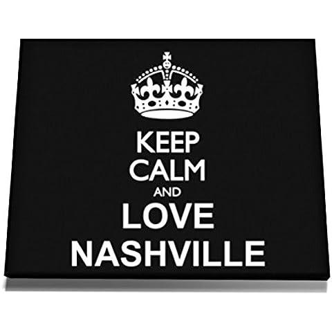 Teeburon Keep calm and love Nashville Tela muro arte 12 x 8 Inch