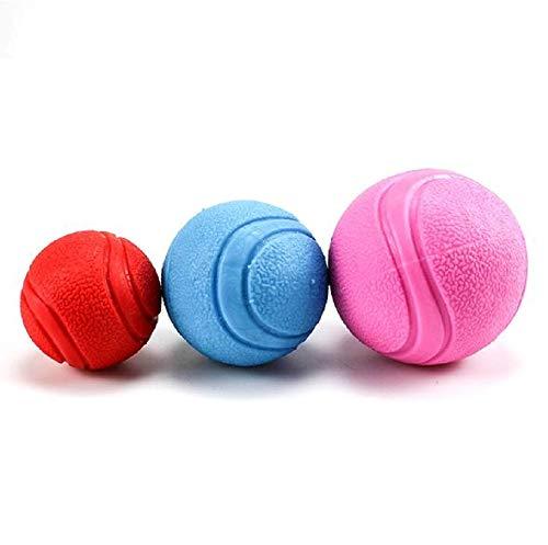 GDDYQ Hundespielzeug, molare Reinigungszähne elastische Gummispielzeug, DREI Größenhunde, zufällige Farbe, EIN Outfit,7cm