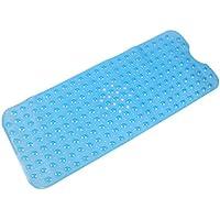 SMALUCK Bad-Teppiche Rutschfeste blau 100x40cm umweltfreundliche TPR Gummi Badewanne Mats Massage Badewanne und Dusche mit Saugnapf 100/* 40/cm