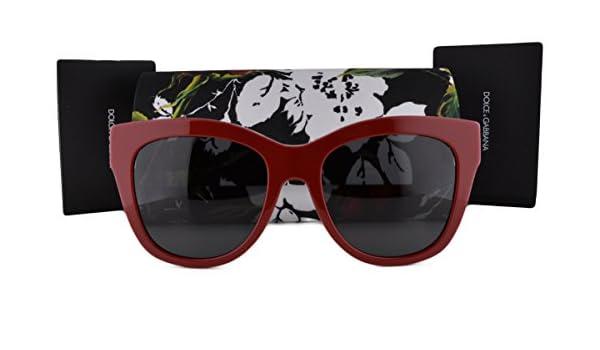 cba9435c568d Dolce   Gabbana DG4270 Sunglasses Top Red Print Rose w Gray Lens 302087 For  Women  Amazon.co.uk  Clothing