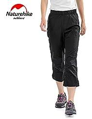 Naturehike hydrofuges pantalón para mujer pantalón de Ete recadrees Camping pantalones Sechage rápido Randonnee Capris, XXL