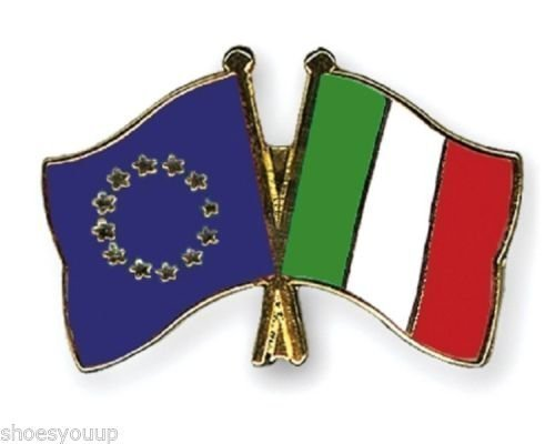 UE Unione europea & Italy bandiere preciso dell'amicizia, Lapel Pin Badge