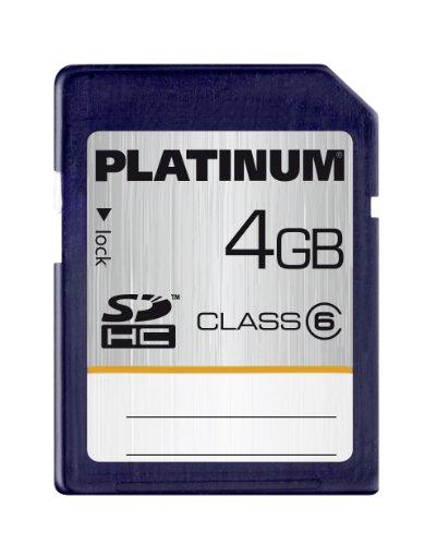 Platinum 4 GB Class 6 SDHC Speicherkarte -