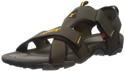 Sparx Men's Olive Athletic and Outdoor Sandals - 9 UK/India (43.33 EU) (SS-416)