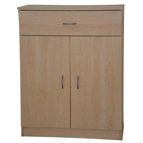 Storage Cupboard or Sideboard Beech 2 Doors 1 Drawer Selby