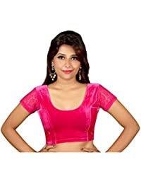 16ad58f7d9127 Amazon.in  Velvet - Blouses   Ethnic Wear  Clothing   Accessories