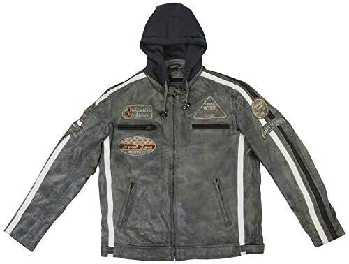 Urban Leather Giacca da Uomo, colore, Light Grigio