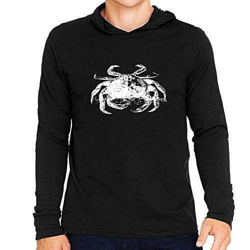 Idakoos Crab Sketch Kapuze Langarm T-Shirt M -
