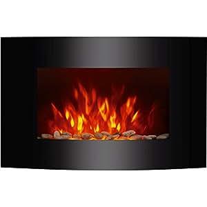 oramics elektrokamin dekokamin arinn mit heizung flammensimulation led seitenbeleuchtung und. Black Bedroom Furniture Sets. Home Design Ideas