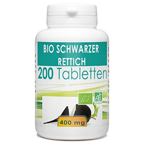 Bio Schwarzer Rettich 400 mg, 200 Tabletten