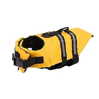 ANGTUO Hund Leben Jacke, Haustier Flotation Weste mit reflektierendem Streifen Hund Sicherheit Leben zum Schwimmen, Bootfahren, Surfen