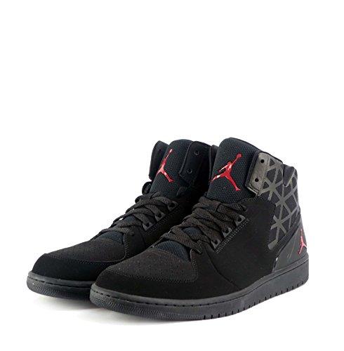 Jordan 1 Flight 3 Nike Uomini Mod. 706954 Multicolore - Negro / Rojo (Black / Gym Red-Black)