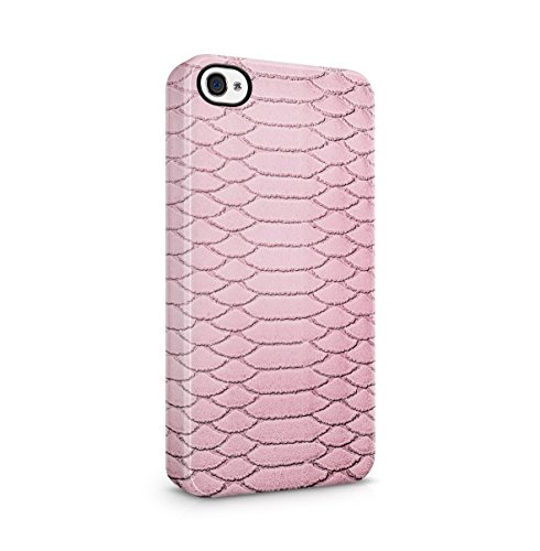 Grey Snake Skin Pattern Apple iPhone 5C Snap-On Hard Plastic Protective Shell Case Cover Custodia Pink Skin