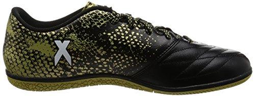 adidas X 16.3 In Leather, Scarpe da Calcio Uomo Nero (Core Black/Ftwr White/Gold Met.)