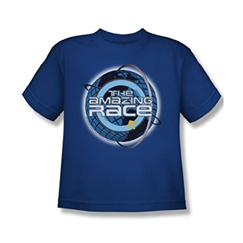 Cbs - The Amazing Race / Around The Globe Jugend-T-Shirt in Royalblau, X-Large (18-20), Royal