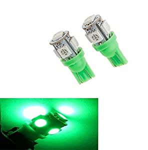 AOW Attractive Offer World 5 SMD (Green) LED Parking Bulb Pilot Light/License Plate car Lights for Mahindra Quanto (PAIR/DC-12V)