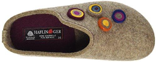 Haflinger Unisex-Erwachsene Grizzly Kanon Hausschuhe Beige (Torf)