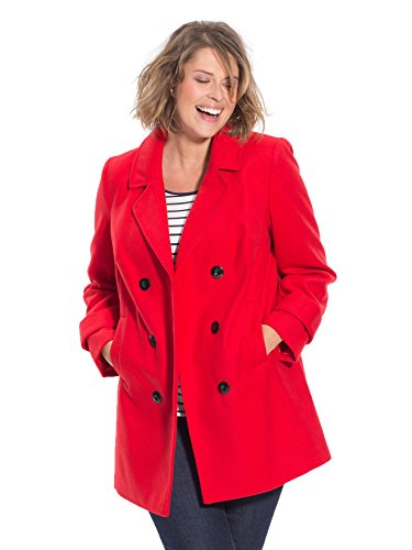 Balsamik - Caban seni abbondanti - Donna - Size : 52 - Colour : Rosso