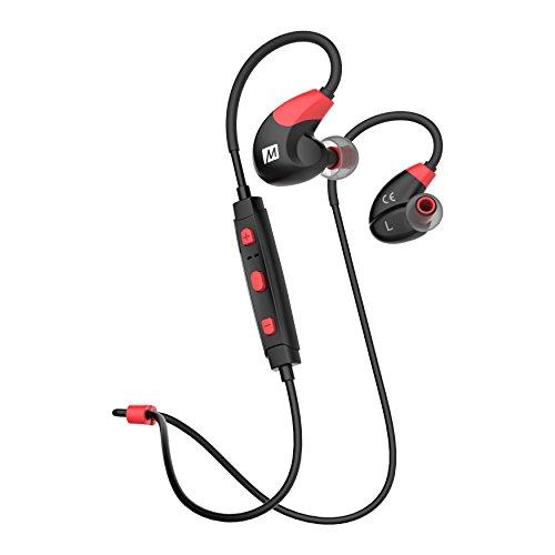 MEE Audio EP-X7-RDBK-MEE X7 Stereo Bluetooth Sport In-Ear Kopfhörer Rot/Schwarz