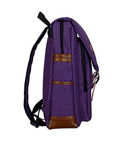 H-Mastery Rucksack Damen Herren Studenten Laptop Rucksack Wasserdichte Tasche Daypacks Schüler Backpacks Schultaschen Lila