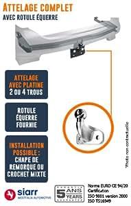 SIARR - Attelage DACIA LOGAN MCV (BREAK) - choix du faisceau electrique: Sans faisceau - Rotule à equerre
