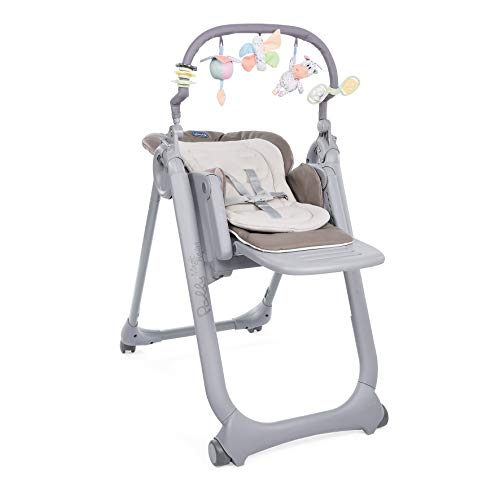 Chicco Polly Magic Relax Trona y hamaca evolutiva con barra de juegos, plegable y compacta, con 4 ruedas...