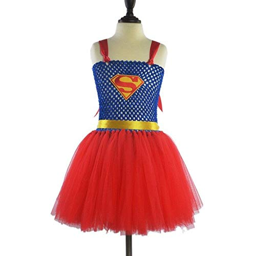 Kostüm Tutu Superman - FidgetGear Kinder Cosplay-Kostüm Superhelden-Mädchen-Tutu-Kleid, klassisch, Halloween-Party, Superman, (24M) UK