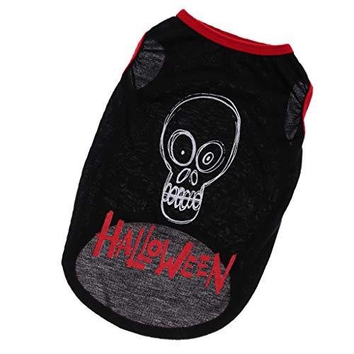 D dolity halloween zucca gilet maglietta cappotto per animale domestici giubbotti da cani, gatti - nero, s