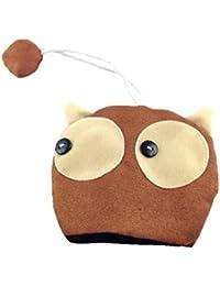 Etui Housse porte-clés forme tête de chien en tissu polaire avec doublure en coton - 2 modèles au choix