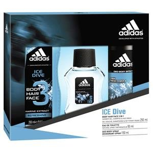Adidas Herrendüfte Ice Dive Geschenkset Eau de Toilette Spray 50 ml + Deodorant Body Spray 150 ml + Shower Gel 250 ml 1 Stk.